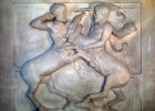 Relief of Centaurs, detail, Lycian sarcophagus 4th century BC, from royal necropolis, Sidon, Archaeological Museum, Istanbul, Turkey