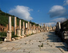 Turkey Ephesus view of the Street of the Curetes which leads to the Magnesian Gate Roman period