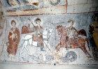 Turkey, Cappadocia, rock-cut Chapel Yilan Kilise, St Onouphrios, St George and St Theodore