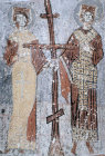 Saints Constantine and Helen, circa 1070, Yilan Kilise, Cappadocia, Turkey
