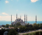 Turkey Istanbul the Sultan Ahmet or Blue mosque  built by the Imperial architect Mehmet Aga, 1609-17