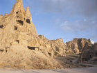 Turkey, Cappadocia, a rock-cut Monastery in the Goreme Valley