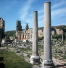 Colonnaded street and inner city gate, Hellenistic, Perge, Pamphilia, Turkey