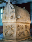 Lycian Sarcophagus from the royal cemetery at Sidon, 4th century BC, Archaeological Museum, Istanbul, Turkey