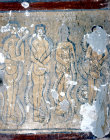 Turkey, Ihlara valley, the Yilan Kilise, 11th century, the Damned from The Last Supper  (women and serpents )