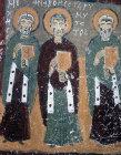 Turkey, Ihlara Valley, the Yilan Kilise, 11th century, three of the twenty four elders of the apocalypse in the narthex