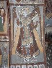 Turkey, Ihlara Valley, Yilan Kilise, 11th century, Archangel Michael  on the arch between the narthex and the nave