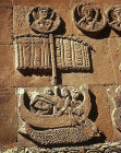 Turkey, Armenian Church on the Island of Achthamar on Lake Van, detail of Jonah and the whale  915-921 AD