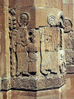 Turkey, Armenian Church on the Island of Achthamar on Lake Van 915-921 AD  detail of the sacrifice of Isaac, Moses on the right