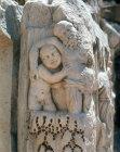 Drunken Silenus and a satyr, detail of Roman frieze, Perge, Pamphilia, Turkey