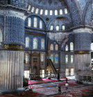 Turkey Istanbul the Sultan Ahmet or Blue Mosque interior