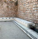 Turkey Ephesus  part of the public latrines near Hadrians Temple