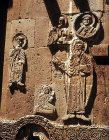 Turkey, Armenian Church on the Island of Achthamar on Lake Van, Elijah and Thomas on the east facade