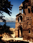 Turkey, Armenian Church on the Island of Achthamar on Lake Van. 915-921 AD