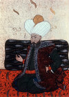 Sultan Murad I, 1359-1389 portrait from nineteenth century manuscript no 3109, Topkapi Palace Museum, Istanbul, Turkey