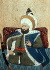 Sultan Mehmed II,  1451-1481, portrait from nineteenth century manuscript no 3109, Topkapi Palace Museum, Istanbul, Turkey