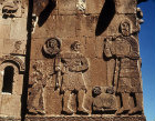 Turkey, Armenian Church on the Island of Achthamar on Lake Van, detail of David, Goliath and Saul, 915-921 AD