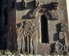 Turkey, Armenian Church on the Island of Achthamar on Lake Van, north facade, Adam and Eve and the Serpent