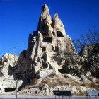Turkey, Cappadocia,  rock-cut Monastery in Goreme