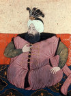 Sultan Ahmed II 1691-1695, portrait from nineteenth century manuscript no 3109, Topkapi Palace Museum, Istanbul, Turkey
