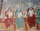 Turkey, Cappadocia, Ihlara Valley, Paul, Luke and Matthew, three apostles from the Pentecost mural in Kokar Kilise the Scented Church