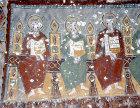 Turkey, Cappadocia, Ihlara Valley, Kokar Kilise, the Scented Church, 10-11th century,  three apostles from Pentecost L-R Philip, Thaddeus and Bartholomew