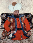 Sultan Beyazid I,  1389-1402, portrait from nineteenth century manuscript no 3109, Topkapi Palace Museum, Istanbul, Turkey