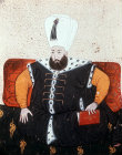 Sultan Mustafa I, 1617-18 and 1622-3, portrait from nineteenth century manuscript no 3109, Topkapi Palace Museum, Istanbul, Turkey