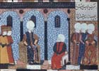Suleyman interviewing Admiral Barbarossa, MSH1517, 1557, Topkapi Palace Museum, Istanbul, Turkey