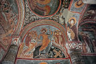 Anastasis, Christ trampling Satan and rescuing Adam and Eve, eleventh century, Karanlik Kilisesi (Dark Church), Goreme, Cappadocia, Turkey