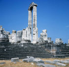 Temple of Apollo, 300 BC to second century AD, detail of north east aspect, Didyma, Turkey