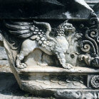 Griffin carved in marble, Temple of Apollo, Didyma, Turkey