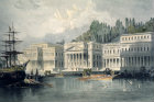 Turkey the Palace of Sultan Mahmut II on the Bosphorus painted by Laura Lushington