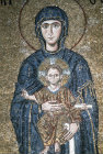 Turkey Istanbul Hagia Sophia Virgin and Child detail from mosaic with Emperor John Comnenus and Empress Irene