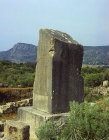 Turkey, Xanthos, Lycia, inscribed pillar, remains of 5th century BC tomb