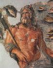 Oceanus, second century Roman mosaic, now in Archaeological Museum, Antioch, Turkey