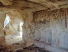 Carved crosses in rock-cut church, fifth century, Zelve valley, Cappadocia, Turkey