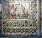 Perseus, with head of Medusa, saving Andromeda from the sea monster Ketos, third century, Gaziantep, Zeugma mosaic museum, Turkey