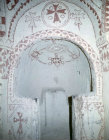 Chapel with crosses and geometric designs, eleventh century, Church of St Barbara, Goreme Valley, Cappadocia, Turkey