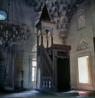 Sisli Mosque, constructed 1945-49, interior showing stalactite squinch behind the mimbah, Istanbul, Turkey