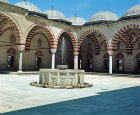 Turkey, Edirne, Selimiye Mosque, built 1569-1575 by Mimar Sinan for Sultan Selim II, courtyard and ablutions fountain
