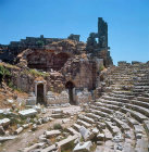 Ruins of Hellenistic theatre, Perge, Pamphylia, Turkey