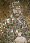 Turkey Istanbul Hagia Sophia Constantine IX  detail from mosaic of Christ and the  Empress Zoe  12th century