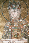 Turkey Istanbul Hagia Sophia Empress Zoe detail from the mosaic of Christ and Emperor Constantine IX  set up in 1030