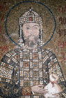Turkey Istanbul Hagia Sophia Emperor John Comnenus detail from the mosaic of the Virgin and Empress Irene 1118 AD