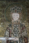 Turkey Istanbul Hagia Sophia Empress Irene detail from a mosaic 11th century