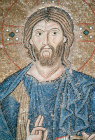 Turkey Istanbul Hagia Sophia mosaic of Christ detail in the South Gallery 11th century