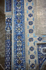 Uzbekistan, Samarkand, Gur Emir mausoleum, tomb of Timur, central Asian emperor known as Tamburlaine the Great, decorative tile work