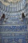 Uzbekistan, Samarkand, Shah-I-Zinda necropolis,  Shirin Biki Aka mausoleum, decorative tilework