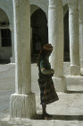 Man praying at twelfth century Great Mosque, Jibla, Yemen